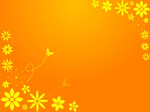 Flores retras de la primavera ilustración del vector