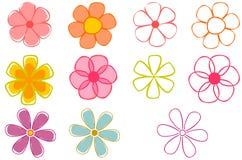 Flores retros Imagem de Stock Royalty Free