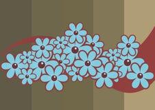 Flores retros Imagens de Stock Royalty Free