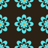 Flores retros azuis Ilustração Royalty Free