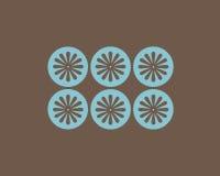 Flores retros e fundo dos círculos Fotografia de Stock