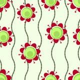Flores retros e grânulos Ilustração Royalty Free