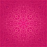 Flores rojas, diseño floral decorativo magnífico de la mandala del fondo de la moda ilustración del vector