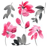 Flores rojas fijadas
