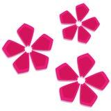 Flores rosadas stock de ilustración