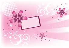 Flores rosadas ilustración del vector