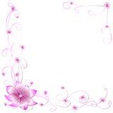 Flores rosadas de la postal Imagen de archivo libre de regalías