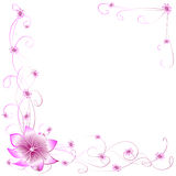 Flores rosadas de la postal libre illustration