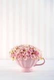 Flores rosadas decorativas de la hortensia Imagen de archivo