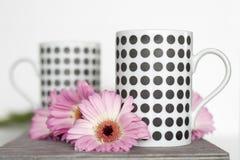 Flores rosadas en el fondo blanco Imagen de archivo