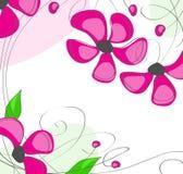 Flores rosadas en un fondo blanco ilustración del vector