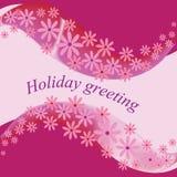 Flores rosadas Saludo del día de fiesta, feliz cumpleaños, día del ` s de la tarjeta del día de San Valentín, el día de polki o b Fotos de archivo libres de regalías