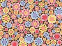 Flores rosadas y azules de la nieve ilustración del vector
