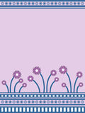 Flores roxas ilustração royalty free