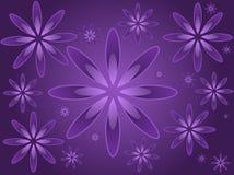 Flores roxas Ilustração Stock