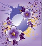Flores roxas abstratas Imagens de Stock Royalty Free
