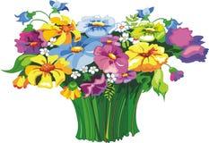 Flores salvajes stock de ilustración