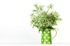 Flores salvajes en jarro Imágenes de archivo libres de regalías