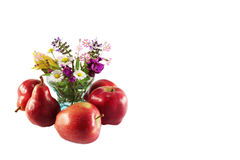 Flores salvajes y frutas Fotografía de archivo