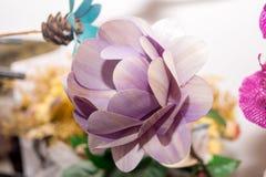 Flores secadas en el primero plano, ramos de flores secadas, centro de flores Fotografía de archivo libre de regalías