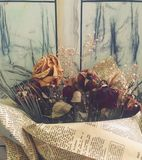 Flores secadas en un ramo fotos de archivo