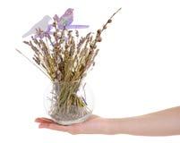 Flores secadas en una decoración del florero a disposición Imágenes de archivo libres de regalías