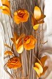 Flores secadas naranja Fotos de archivo libres de regalías