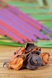 Flores secas de la fragancia Imagen de archivo libre de regalías