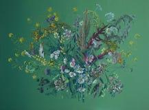 Flores selvagens   Ilustração do Vetor