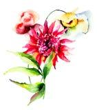 Flores selvagens bonitas Foto de Stock Royalty Free