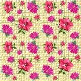 Flores sem emenda da grade Foto de Stock Royalty Free