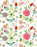 Flores suaves del modelo para el diseño Foto de archivo libre de regalías