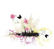 Flores sujas ilustração stock