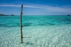 The Flores Taka Makassar Beach stock photo