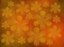 Flores transparentes pintadas Imagens de Stock Royalty Free