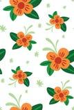 Flores tropicales anaranjadas stock de ilustración