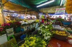 Flores tropicales en paquetes Fotos de archivo