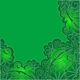 Flores verdes ilustração royalty free