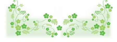Flores verdes Imagem de Stock