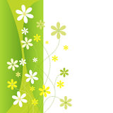 Flores verdes y amarillas Imagen de archivo