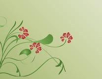 Flores vermelhas ilustração do vetor