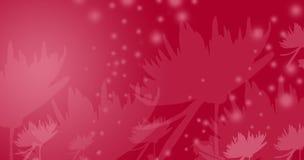 Flores vermelhas do fairy-tale Fotos de Stock Royalty Free