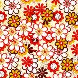 Flores vermelhas e amarelas Foto de Stock Royalty Free
