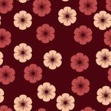 Flores vermelhas e cor-de-rosa Fotografia de Stock Royalty Free