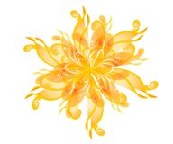 Flores Wispy de la flor del oro ilustración del vector