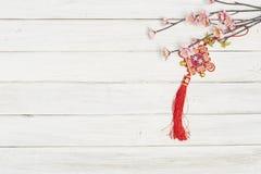 Flores y Año Nuevo chino de la joyería Foto de archivo libre de regalías
