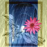 Flores y arco Ilustración del Vector