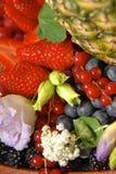 Flores y bayas de las frutas Fotografía de archivo