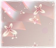 Flores y cintas Fotos de archivo