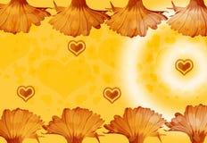 Flores y corazones Imagen de archivo